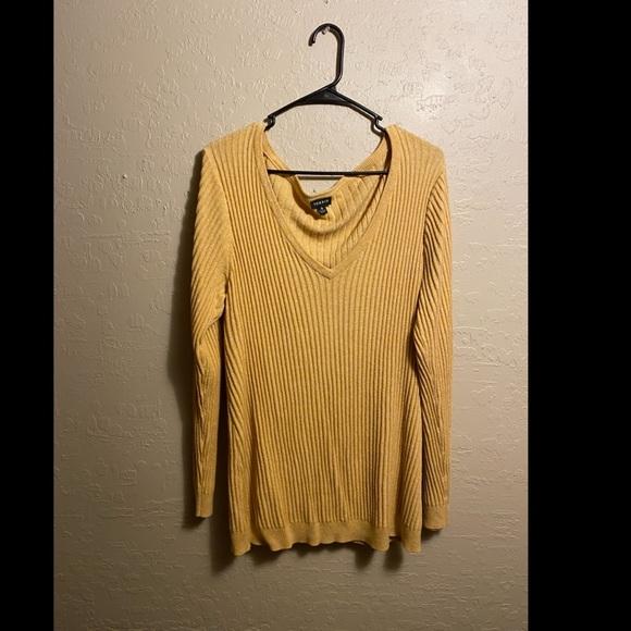 Plus size cute yellow sweater torrid